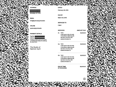 $$ pay me business smiley money letter form document invoice brutalist