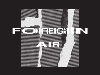 Foreign Air Tee tour glitch monochrome band music texture silkscreen screenprinting tee shirt