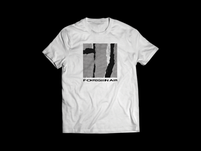 Foreign Air Tour Tee custom type scan tour glitch distressed tee shirt band