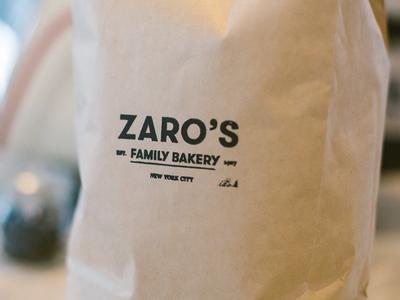 Zaro's branding rebrand classic custom type legacy brand bakery sans serif lettering art