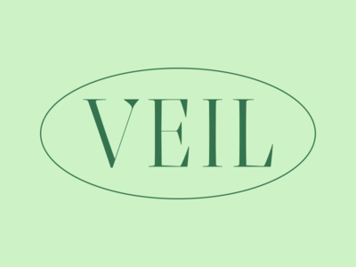 Veil cannabis branding lettering bright simple custom type design logo