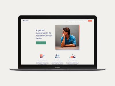 Basis san francisco app tech gin lane photography gradient custom build website mental health
