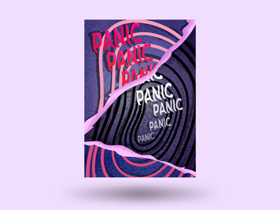 Poster about panic poster idea emotional panic texture vector illustration