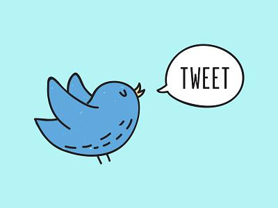 Tweet social media chat bird blue bird blue twitter