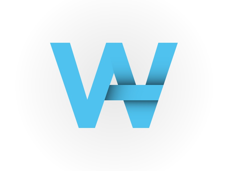 AW consulting company logo logo consulting aw cyan shadow
