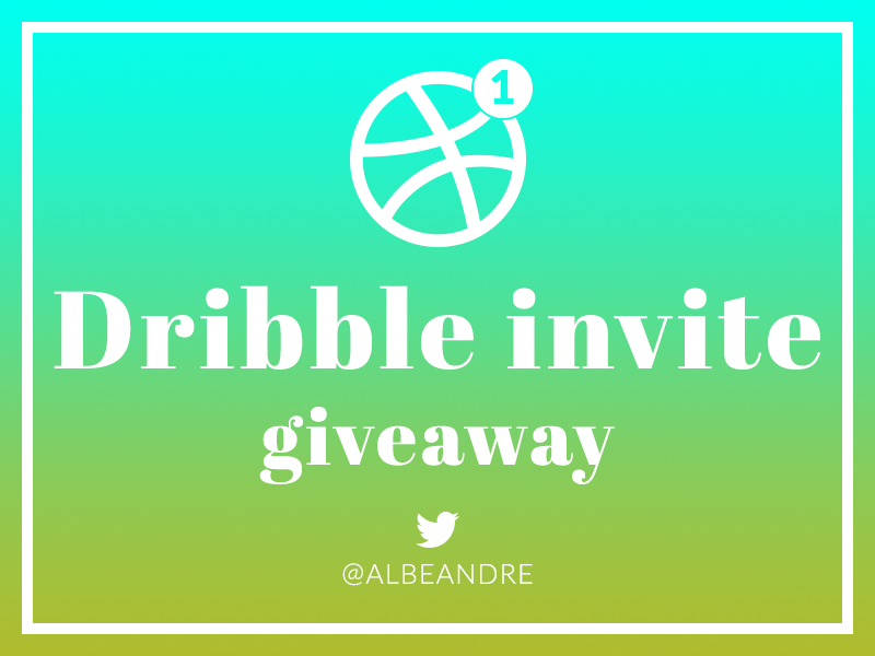 Dribbble Invite Giveaway dribble giveaway giveaway invite dribbble