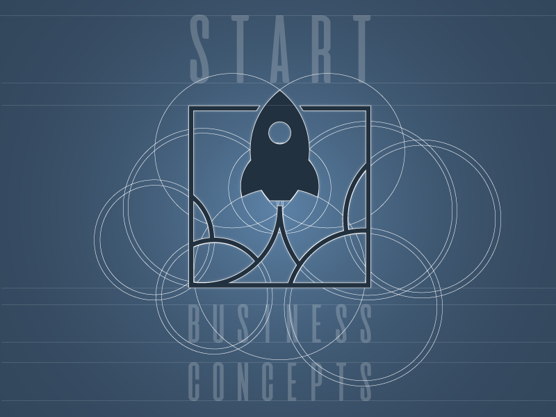 business consultancy logo branding concept rocket start wireframe business logo