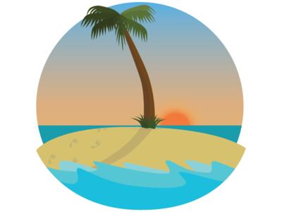 You're Lost desert island tropical error illustrator illustration 404