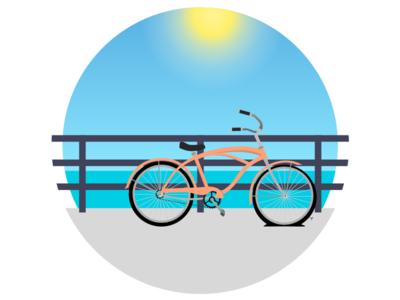 Something Went Wrong boardwalk bike 500 error illustrator illustration