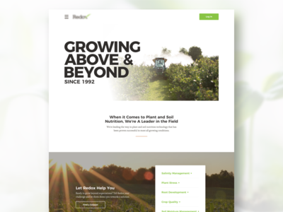 Landing Page Concept clean landing page marketing website white space plants agriculture photos bold simple landing