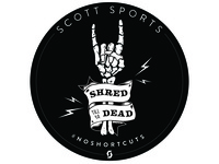 Shred Till Ya Dead Stickers sticker devil horns shred skeleton illustrator illustration