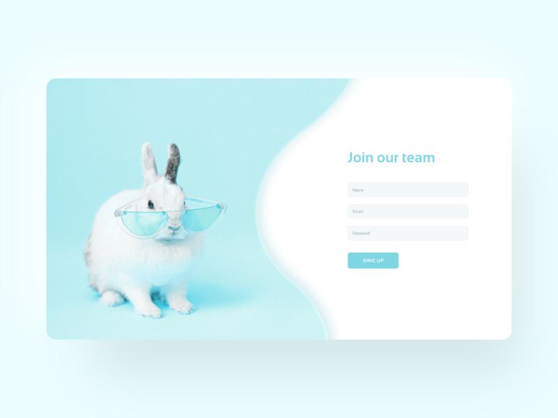 Daily UI : 001 / Sign Up Form dailyui 001 dailyui web ui design