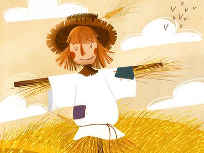 Scarecrow illustration character design illustrationfrokids children book childrenbookillustration illustration