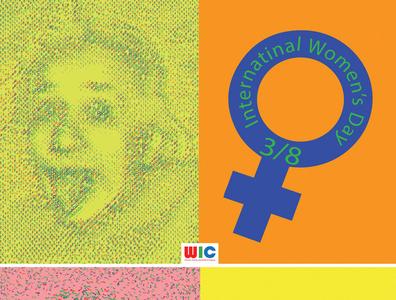 International Women's Day poster event branding vector design