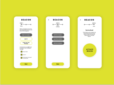 Daily UI 6 - Emergency Messaging Concept concept uxdi dailyui simple beacon emergency messaging