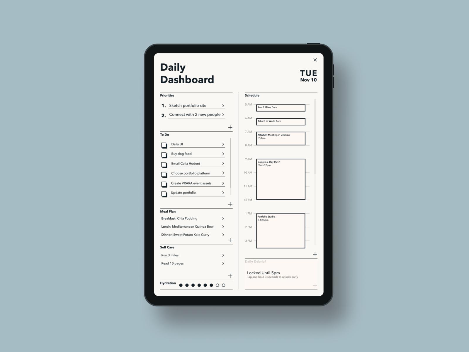 Daily UI 10 - To Do List