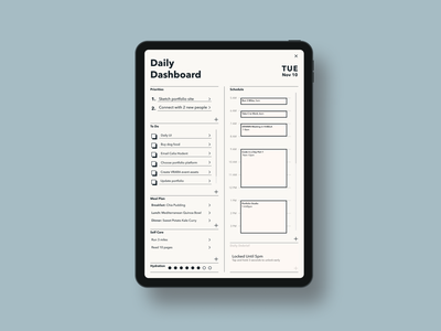 Daily UI 10 - To Do List concept user experience uxdesign ux calendar planner day planner checklist paper black and white clean minimalist uxdi dailyui to do