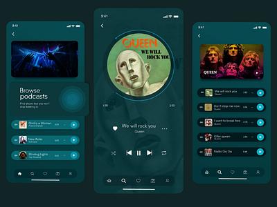 Music Inspired - Music App V1 ux ui ios playlist dribbble green musicplayer music appmusic design app