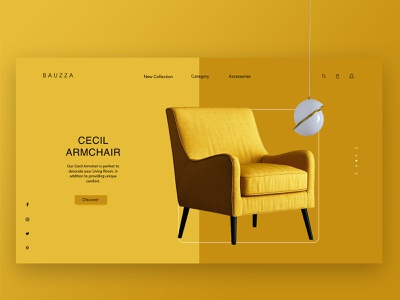 Bauzza- Landing Page ui  ux furniture store landingpage website concept ecommerce furniture design webdesign clean minimalist minimalism