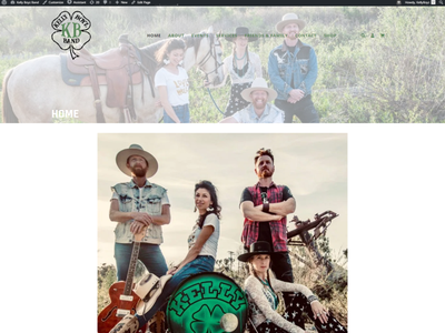 Kelly Boyz Website web design