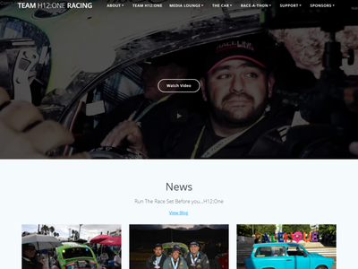 Team H12One Website webdesign