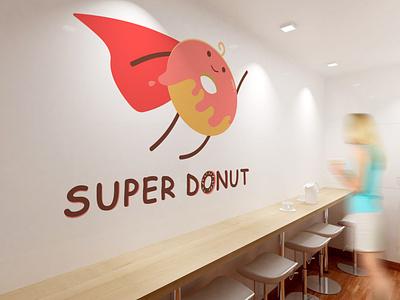 Super Donut characterdesign character advertising graphicdesign concept cute 2d logo branding superman design art adobe adobe illustrator vectorart drawing painting creative animation icon