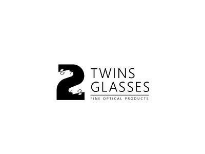 Twins Glasses Logo adobe illustrator adobe advertising digitalart logo branding brand creative negative space logodesign design digital elegent graphicdesign store mark icon illustration man animation