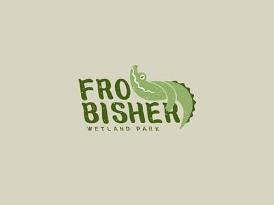 Frobisher Wetland Park LOGO sketch 2danimation illustration drawing f logo font font logo cute nature advertising 2d art zoo animal logo adobe illustrator icon mark crocodile vectorart branding
