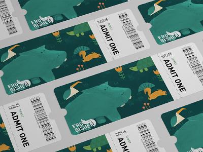 Frobisher Wetland Park Ticket Design logo flat design advertising digital art illustrator 2d adobe photoshop cute art branding visual identity logo design painting turtle hiphop bird squirrel cute animal zoo
