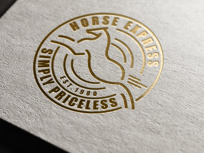 Horse Express Logo mockup sketch mark icon brand identity run digitalart adobe illustration 2d art stationery vector art animal illustration animal logo animal minimalist logo minimalism lineart branding graphic design advertisement