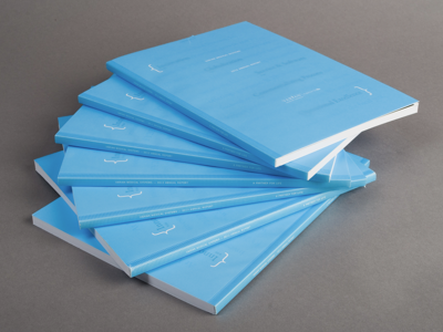 Varian Medical Systems AR13 annual report print design typography neenah perfect bound