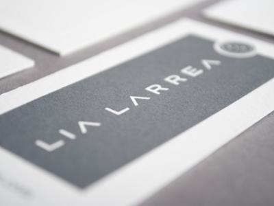 Wordmark and letterpress application  letterpress business card pms 425 220lb lettra