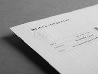 Invoice letterhead emboss