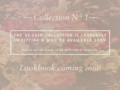 web teaser panel  typography fashion pattern floral lookbook sabon news gothic spring summer