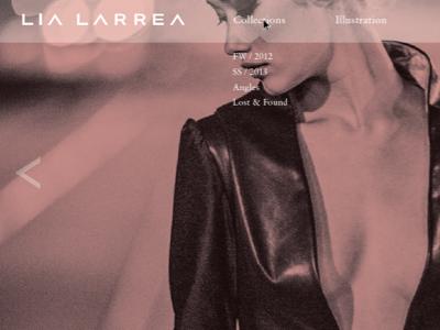 website refresh, identity implementation  web layout fashion design portfolio lookbook