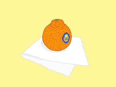 SUMO SZN fruits orange logo grocery produce sumo fruit sticker napkin fruit orange