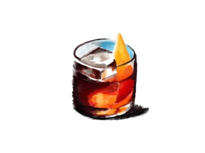 Negroni - 10 Days of Drinks 100days refresh cold ice cube thirsty orange sip drink booze cocktail negroni