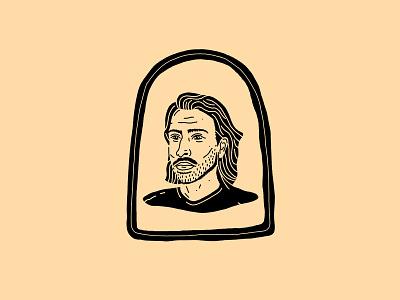 JTF black portrait illustration human flow mustache picture frame man face portrait