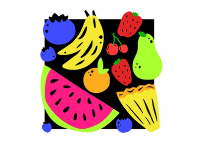 FRUITBOX fruits eat food natural fruity juicy fresh delicious basket orange blueberry strawberry cherry pineapple banana fruit