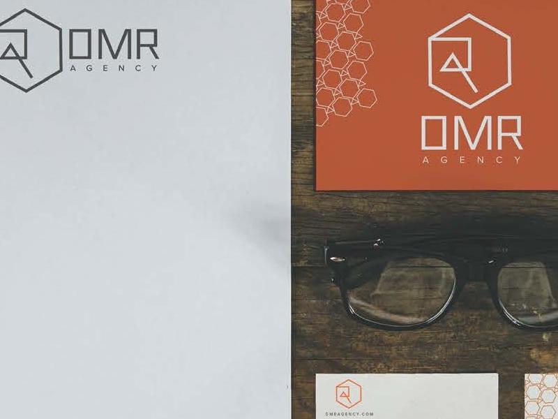 Dmr Logo  stationary glasses orange logo identity hipster rustic wood business cards branding