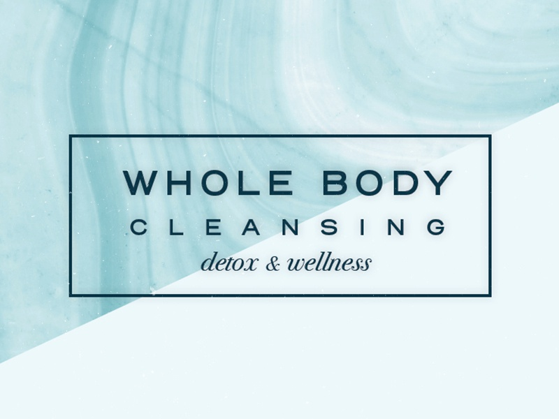 Whole Body Cleansing Text only Logo health seagreen branding design graphicdesign logo wholebody
