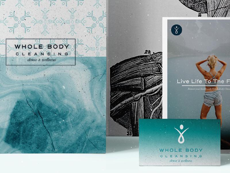 Whole Body Cleansing Stationary health seagreen brandingdesign branding design graphicdesign logo wholebody