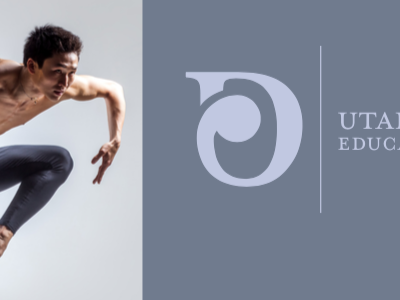 UDEO Logo-For Dance Education sub logo organization utah professional d logo dancing graphic design design branding logo