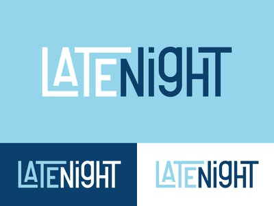 Late Night - Life.Church late night blue custom typeface typeface logo church service ministry college late night