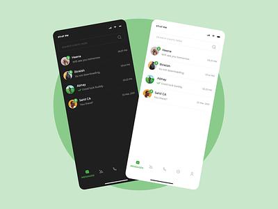 Messaging App UI Concept. messenger app ui messenger app ui app uiux design uxdesign uidesign ux ui uiux xd adobe adobe xd messenger app messages messaging messengers messenger