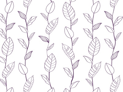 Deep Purple Leaves Pattern