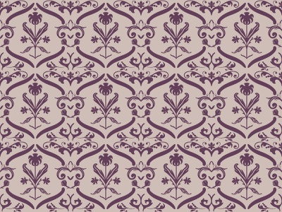 Tan and Purple Damask vector illustration typography cover backdrop background wallpaper endless seamless pattern damask