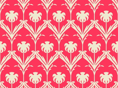 Red Coral Flower Pattern typography vector wallpaper cover background backdrop seamless endless pattern damask