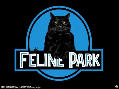 Feline Park animals illustration vectorillustration elegant cat cat portrait cute funny jurassic fly vector digital illustration black cat likes popular trending feline parody kitty cat