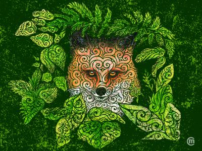 Swirly Fox